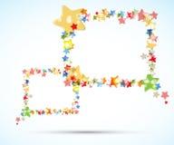Αφηρημένη ελαφριά πετώντας ανασκόπηση πλαισίων αστεριών χρώματος Στοκ φωτογραφία με δικαίωμα ελεύθερης χρήσης