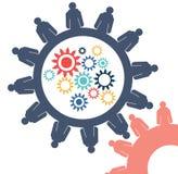 Αφηρημένη εννοιολογική εικόνα cogwheel επιχειρησιακών εργαλείων του δημιουργικού προτύπου ομαδικής εργασίας σύνδεσης με το διάστη Στοκ φωτογραφία με δικαίωμα ελεύθερης χρήσης