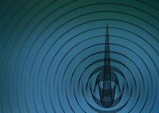 αφηρημένη επιφάνεια ανασκό&pi Στοκ Φωτογραφία