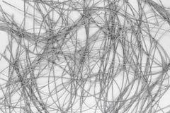 Αφηρημένη επιφάνεια υποβάθρου του ασημένιου νήματος στο ασημένιο υπόβαθρο στοκ εικόνες