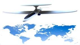Αφηρημένη επιχειρησιακή σύνδεση παγκόσμιων παγκόσμιων δικτύων τεχνολογίας Στοκ Εικόνες