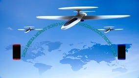 Αφηρημένη επιχειρησιακή σύνδεση παγκόσμιων παγκόσμιων δικτύων τεχνολογίας Στοκ εικόνα με δικαίωμα ελεύθερης χρήσης