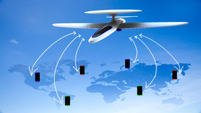 Αφηρημένη επιχειρησιακή σύνδεση παγκόσμιων παγκόσμιων δικτύων τεχνολογίας Στοκ Φωτογραφία