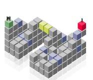 αφηρημένη εργασία ομάδων ο&m απεικόνιση αποθεμάτων