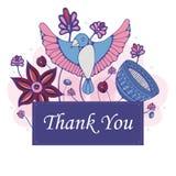 Αφηρημένη ευγνώμων κάρτα ελεύθερη απεικόνιση δικαιώματος