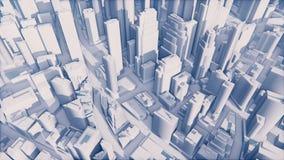 Αφηρημένη λευκιά τρισδιάστατη πόλη ελεύθερη απεικόνιση δικαιώματος