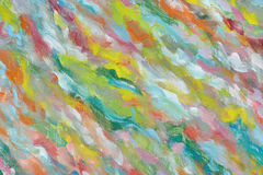 αφηρημένη ελαιογραφία αν&alph Μια φωτεινή εικόνα που χρωματίζεται από ένα δημιουργικό πρόσωπο Θαυμάζοντας αριστούργημα τέχνης Τεμ απεικόνιση αποθεμάτων