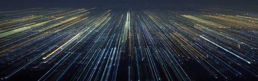 Αφηρημένη ελαφριά κίνηση ταχύτητας πόλεων Στοκ εικόνες με δικαίωμα ελεύθερης χρήσης