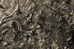 αφηρημένη ζωγραφική καμβά Μαύρα χρώματα και χρυσός Υπόβαθρο στοκ εικόνες