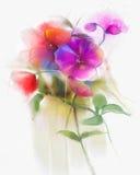Αφηρημένη ζωγραφική λουλουδιών ορχιδεών watercolor διανυσματική απεικόνιση