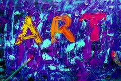 Αφηρημένη ζωγραφική σημαδιών τέχνης Στοκ Εικόνα