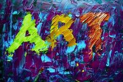 Αφηρημένη ζωγραφική σημαδιών τέχνης Στοκ Φωτογραφία