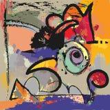 Αφηρημένη ζωγραφική σύγχρονης τέχνης Στοκ Εικόνες