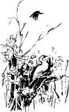 αφηρημένη ζωγραφική Σύσταση μελανιού splatter Διανυσματική συρμένη χέρι απεικόνιση Ζωική έννοια Αφηρημένη έννοια Στοκ Εικόνα