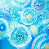 αφηρημένη ζωγραφική τέχνης meno νησιών της Ινδονησίας gili lombok κοντά στον υποβρύχιο κόσμο χελωνών θάλασσας Αφηρημένο μπλε χρωμ απεικόνιση αποθεμάτων