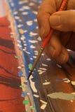 αφηρημένη ζωγραφική χεριών Στοκ Εικόνες