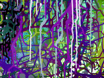 Αφηρημένη ζωγραφική χρώματος τέχνης ακρυλική στον καμβά του ζωηρόχρωμου υποβάθρου Στοκ Φωτογραφία
