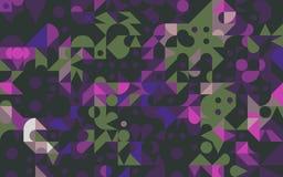 Αφηρημένη ζωηρόχρωμη γεωμετρική παραγμένη ταπετσαρία υποβάθρου Στοκ Εικόνες