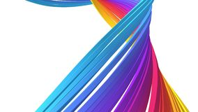 Αφηρημένη ζωηρόχρωμη γραμμή, βρόχος 4K διανυσματική απεικόνιση