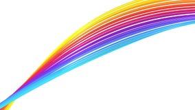 Αφηρημένη ζωηρόχρωμη γραμμή, βρόχος 4K απόθεμα βίντεο