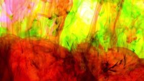 Αφηρημένη ζωηρόχρωμη διάδοση χρώματος χρωμάτων στη σύσταση υποβάθρου νερού φιλμ μικρού μήκους