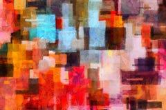αφηρημένη ζωηρόχρωμη ζωγραφική ελεύθερη απεικόνιση δικαιώματος