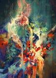 αφηρημένη ζωηρόχρωμη ζωγραφ Στοκ Φωτογραφίες