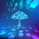 Αφηρημένη ζωηρόχρωμη διανυσματική απεικόνιση υποβάθρου δέντρων Στοκ Εικόνες