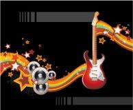 αφηρημένη ζωηρόχρωμη μουσι&k διανυσματική απεικόνιση