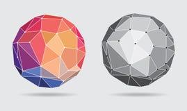 Αφηρημένη ζωηρόχρωμη συνδεδεμένη σφαίρα - διανυσματική απεικόνιση Στοκ Εικόνες