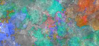 αφηρημένη ζωηρόχρωμη σύνθεσ&e απεικόνιση αποθεμάτων
