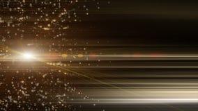Αφηρημένη ζωτικότητα με τα καμμένος και τρέμοντας μόρια συν να αναβοσβήσει το φως στο σε αργή κίνηση, βρόχο 4K 4096x2304 διανυσματική απεικόνιση