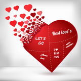 Αφηρημένη δημιουργική διανυσματική εικόνα έννοιας της καρδιάς τον Ιστό και τις κινητές εφαρμογές που απομονώνονται για στο υπόβαθ Στοκ Εικόνα