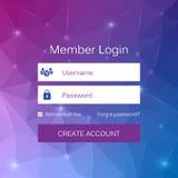 Αφηρημένη δημιουργική διεπαφή μορφής σύνδεσης μελών έννοιας διανυσματική Για ιστοσελίδας, περιοχή, κινητές εφαρμογές, απεικόνιση  Στοκ Εικόνες