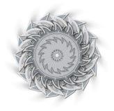 Αφηρημένη διακόσμηση (με τη σκιά) Στοκ Φωτογραφίες