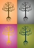 Αφηρημένη διανυσματική απεικόνιση δέντρων Στοκ Εικόνες