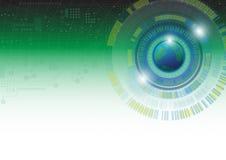 Αφηρημένη διανυσματική απεικόνιση υποβάθρου έννοιας τεχνολογίας Στοκ εικόνα με δικαίωμα ελεύθερης χρήσης