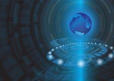Αφηρημένη διανυσματική απεικόνιση υποβάθρου έννοιας τεχνολογίας Στοκ φωτογραφίες με δικαίωμα ελεύθερης χρήσης