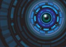Αφηρημένη διανυσματική απεικόνιση υποβάθρου έννοιας τεχνολογίας Στοκ φωτογραφία με δικαίωμα ελεύθερης χρήσης