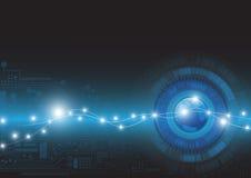 Αφηρημένη διανυσματική απεικόνιση υποβάθρου έννοιας τεχνολογίας Στοκ Εικόνες