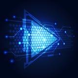 Αφηρημένη διανυσματική απεικόνιση υποβάθρου κυκλωμάτων τεχνολογίας Στοκ εικόνα με δικαίωμα ελεύθερης χρήσης