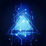 Αφηρημένη διανυσματική απεικόνιση υποβάθρου κυκλωμάτων τεχνολογίας Στοκ Εικόνες