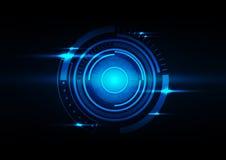 Αφηρημένη διανυσματική απεικόνιση υποβάθρου κύκλων σκούρο μπλε Στοκ Φωτογραφία