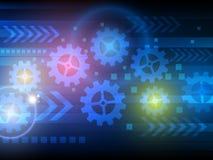 Αφηρημένη διανυσματική απεικόνιση υποβάθρου τεχνολογίας εφαρμοσμένης μηχανικής Στοκ φωτογραφίες με δικαίωμα ελεύθερης χρήσης