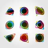 Αφηρημένη διανυσματική μορφή Σχέδιο eps10 γραμμών χρώματος Στοκ Φωτογραφίες