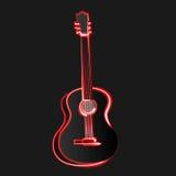Αφηρημένη διανυσματική μουσική κιθάρων απεικόνισης Στοκ Εικόνα