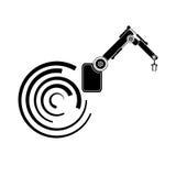 Αφηρημένη διανυσματική ρομποτική υποβάθρων, χέρι ρομπότ, εικονίδιο ρομπότ Στοκ Φωτογραφίες