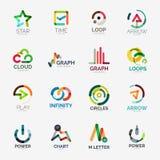 Αφηρημένη διανυσματική συλλογή λογότυπων επιχείρησης Στοκ Εικόνα