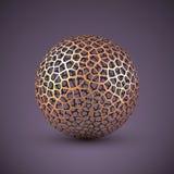Αφηρημένη διανυσματική σφαίρα wireframe απεικόνιση αποθεμάτων