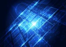 Αφηρημένη διανυσματική ψηφιακή έννοια υποβάθρου τεχνολογίας Στοκ εικόνες με δικαίωμα ελεύθερης χρήσης